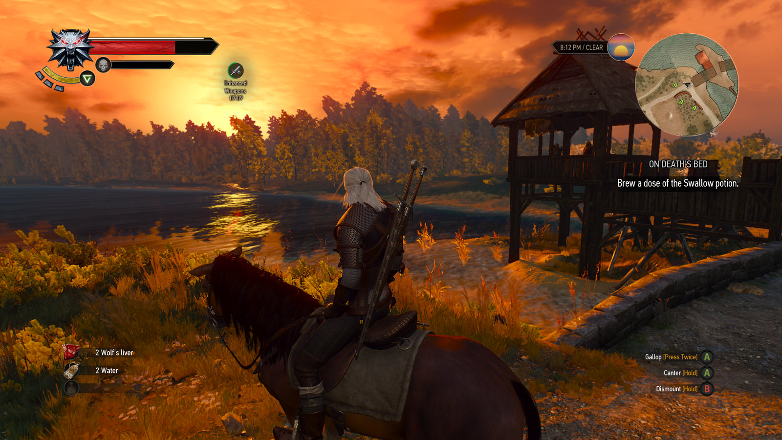 Witcher gameplay screenshot